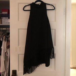 Black Elizabeth and James Fringe Cocktail Dress!